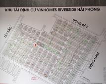 Chuyển nhượng lô đất 2 mặt tiền khu TĐC vinhomes riverside,Sở Đầu, Hồng Bàng, Hải Phòng