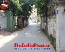 Bán thửa đất 2 mặt tiền mặt ngõ 2.5m, ô tô cách nhà 20m trong ngõ đường Lạch Tray.