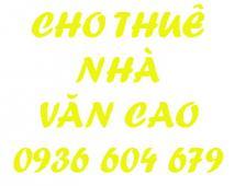 Cho thuê lâu dài nhà hai mặt tiền mặt ngõ Văn Cao, Ngô Quyền, Hải Phòng.