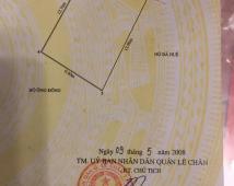 Bán đất mặt phố Hoàng Minh Thảo, Lê Chân, Hải Phòng. DT: 122m2. Giá 55tr/m2