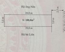 Bán đất 100m2 tại khu phân lô Bãi Huyện Vân Tra giá 820 triệu