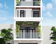 Mặt đường Nguyễn công Trứ xây 4 tầng sạch đẹp.