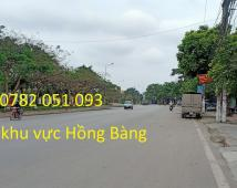 Lô đất 82m2 mặt đường Đống Hương , Quán Toan , Hồng Bàng giá hơn 1 tỷ LH : 0782051093