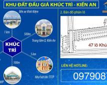 Bán lô đất duy nhất Khúc Trì, Kiến An 985 triệu