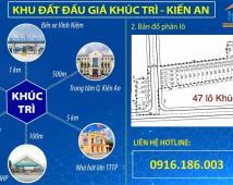 Bán đất phân lô KhúcTrì, Kiến An 69m2 giá 1,03 tỷ