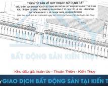 📣📣📣 Bán lô góc số 105 144m2 giá 10triệu/m ,Thuận Thiên , Kiến Thụy, Hải Phòng. LH; 0794131808
